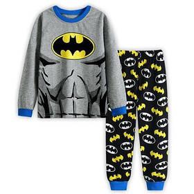 Пижама детская для мальчика  коттоновая  Бетмен  2,3 года серая