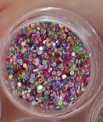 Глиттерные блестки для маникюра обьемные цветные