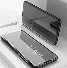 Зеркальный умный Smart чехол-книжка для Huawei Honor 8X / Стекла / Черный