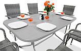 Набір меблів з штучного ротангу FIESTA / AVENUE 6 крісел + 1 стіл, фото 4