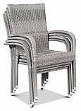 Набір меблів з штучного ротангу FIESTA / AVENUE 6 крісел + 1 стіл, фото 5