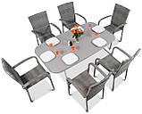 Набір меблів з штучного ротангу FIESTA / AVENUE 6 крісел + 1 стіл, фото 2