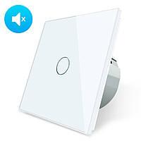 Бесшумный сенсорный выключатель Livolo Silent цвет белый стекло (VL-C701Q-11), фото 1