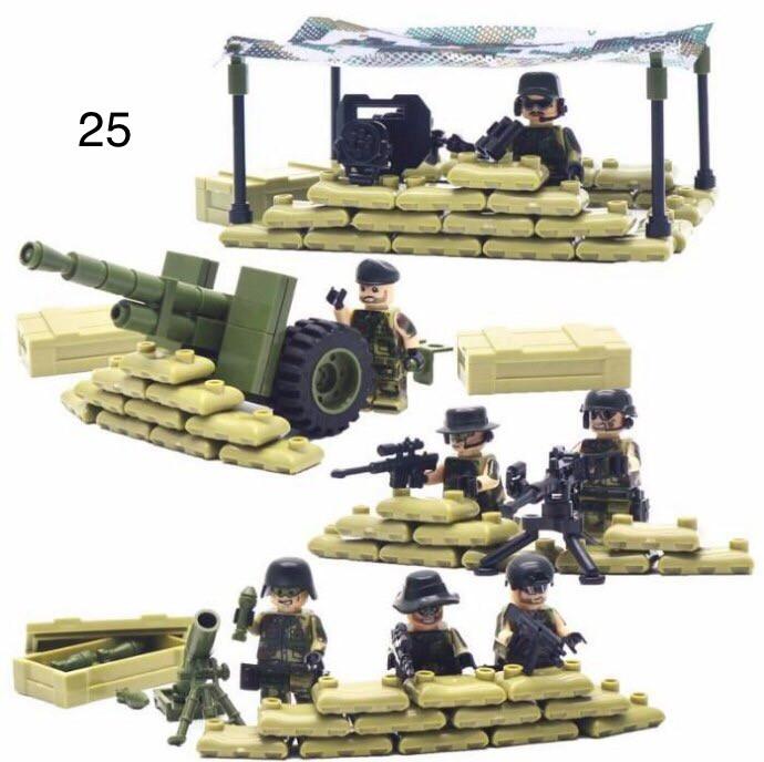 Набор камуфляжных фигурок (блокпост) военные SWAT спецназ солдаты Лего Lego BrickArms