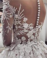 Свадебное платье 3 д кружево