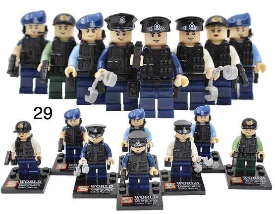 Фигурки полицейских милиция swat спецназ военнослужащие армия лего Lego