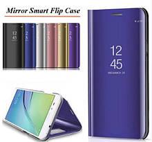 Зеркальный умный Smart чехол-книжка для Huawei Honor 8X / Стекла /