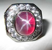 """Шикарный перстень """"Звездный доллар """" со звездчатым рубином , размер 18,3 от студии LadyStyle.Biz, фото 1"""