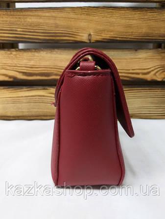 f785265fd0f7 Женский клатч бордового цвета, один отдел, клапан с металлической  застежкой, регулируемый ремень,