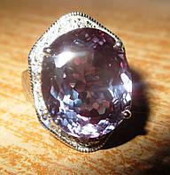 """Крупный перстень с александритом и сапфирами """"Македония"""", размер 18 от студии LadyStyle.Biz, фото 1"""