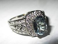 """Элегантный перстень с александритом и сапфирами """"Классика"""", размер 17 от студии LadyStyle.Biz, фото 1"""