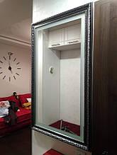 Зеркало в багетной раме с подсветкой 1034Bk