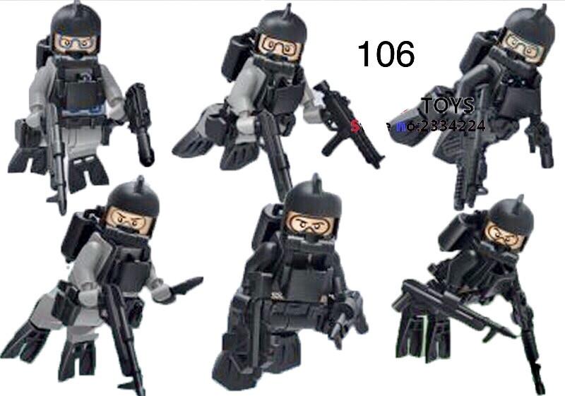 Мини-фигурки swat спецназовцы водолазы военные армия лего Lego BrickArms