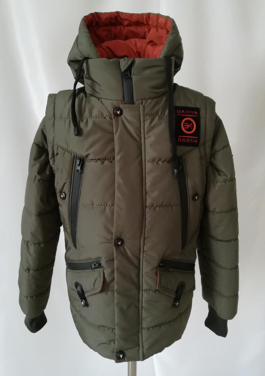 Осенняя куртка на мальчика  интернет магазин  32-40  хаки