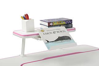 Парта растущая Amare Pink + полка для книг SS16 Pink, фото 2