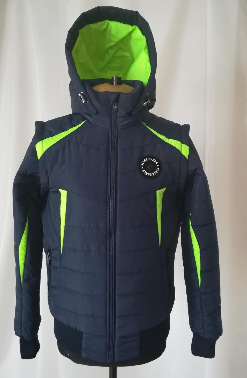 Осенняя куртка на мальчика от производителя 38-40 Салатовый