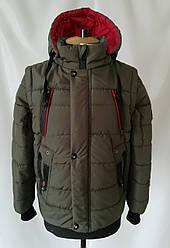 Демисезонная куртка для мальчиков и подростков  32-42  Хаки
