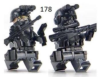 Фигурки SWAT спецназовцы военнослужащие армия Лего Lego BrickArms