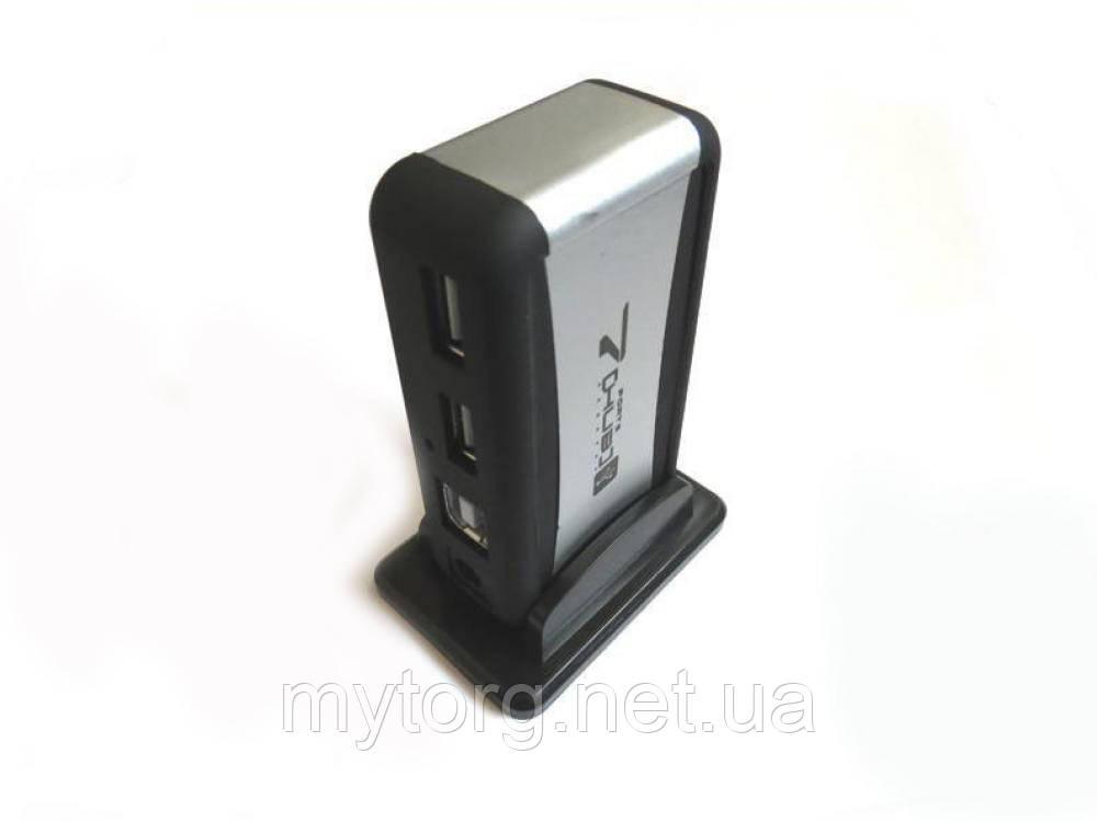 Товар имеет дефект! USB Hub на 7 портов + блок питания активный Уценка №584