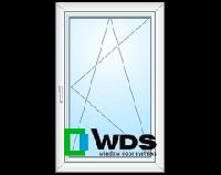 Окно одностворчатое поворотно-откидное с энергосбережением WDS 800х1200  Немецкая фурнитура