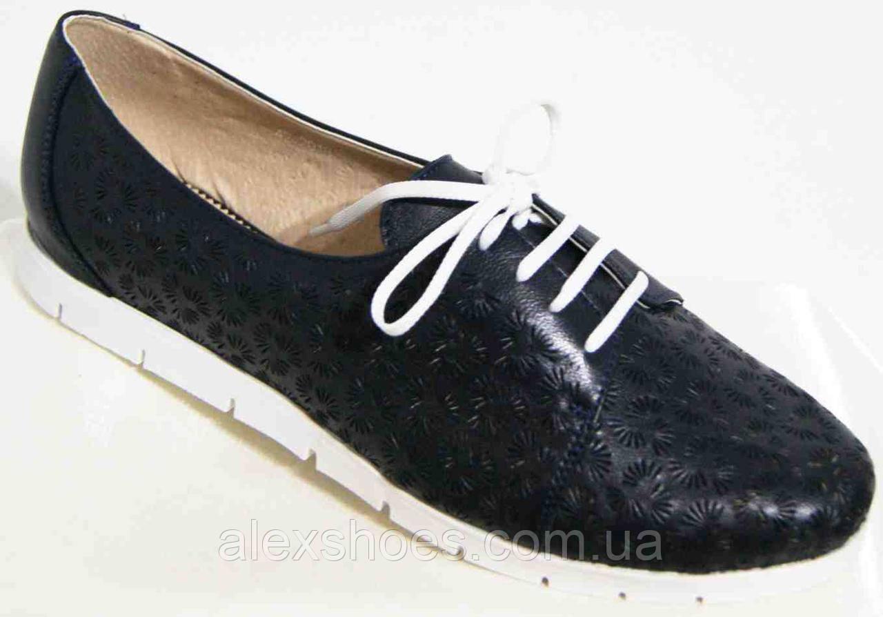 Туфли женские большого размера из натуральной кожи от производителя модель В3544-20
