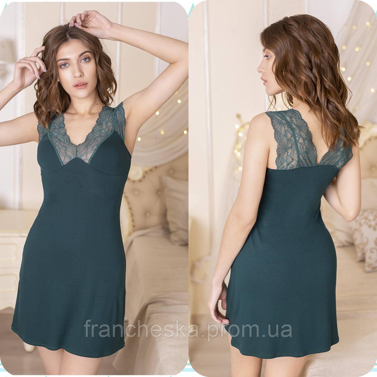 598ae3e671cd Ночная сорочка из зеленого вискозного полотна из коллекции