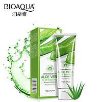 Эссенция для лица с алоэ вера Bioaqua Aloe Vera Essence 40мл, гель для лица увлажнение свежесть