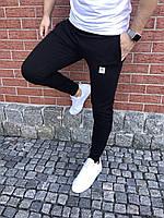 Adidas черные спортивные штаны slim слимы Адидас весна - осень - лето (РЕПЛИКА)