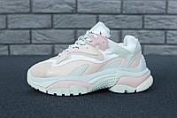Кроссовки женские Ash Addict Sneakers реплика ААА+ (нат. кожа) размер 39 розовый (живые фото), фото 1