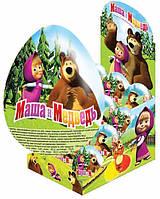 Шоколадное яйцо Маша и Медведь 25 гр с сюрпризом 24шт в блоке 144 шт в ящ