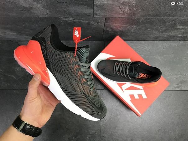 Мужские кроссовки Nike Air Max 270 (серо/оранжевые)