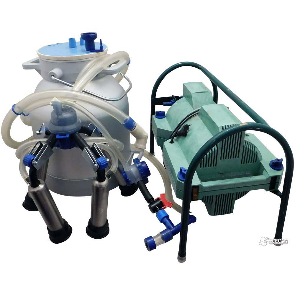 Доильный аппарат Импульс ПБК-4 от 1-3 коров (рез. Д.041, нерж. стаканы) ведро алюминиевое 20 л.