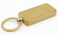 Зажигалка USB электрическая D-6A золотистая брелок спираль