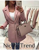 """Пальто женское кашемировое на подкладке, размеры 42-46 (3цв) """"NICOLE"""" купить оптом и в розницу в Одессе на 7км"""