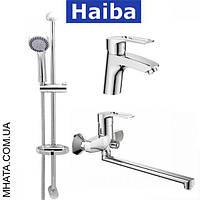 Комплект в ванную комнату HAIBA Hansberg Set 03 (умывальник, ванна длинная, душевая стойка)