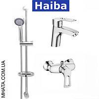 Комплект в ванную комнату HAIBA Hansberg Set 02 (умывальник, душкабина, душевая стойка)
