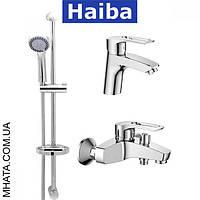 Комплект в ванную комнату HAIBA Hansberg Set 01 (умывальник, ванна короткая, душевая стойка)