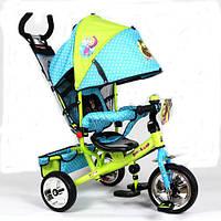 Детский трехколесный велосипед MM 0156-01  MM, голубо-зеленый