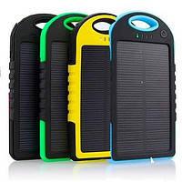 Портативное зарядное устройство Power Bank SOLAR 30000mAh с солнечной зарядкой