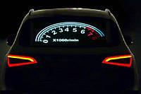 Эквалайзер на стекло авто №42 Тахометр яркий эквалайзер подарок