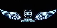 Эквалайзер на стекло авто Крылья AUDI яркий эквалайзер подарок