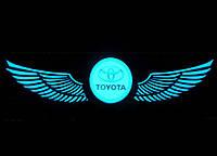 Эквалайзер на стекло авто Крылья Toyota яркий эквалайзер подарок