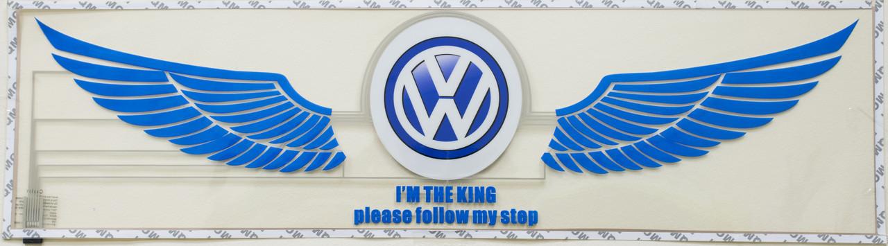 Эквалайзер на стекло авто Крылья Volkswagen яркий эквалайзер подарок