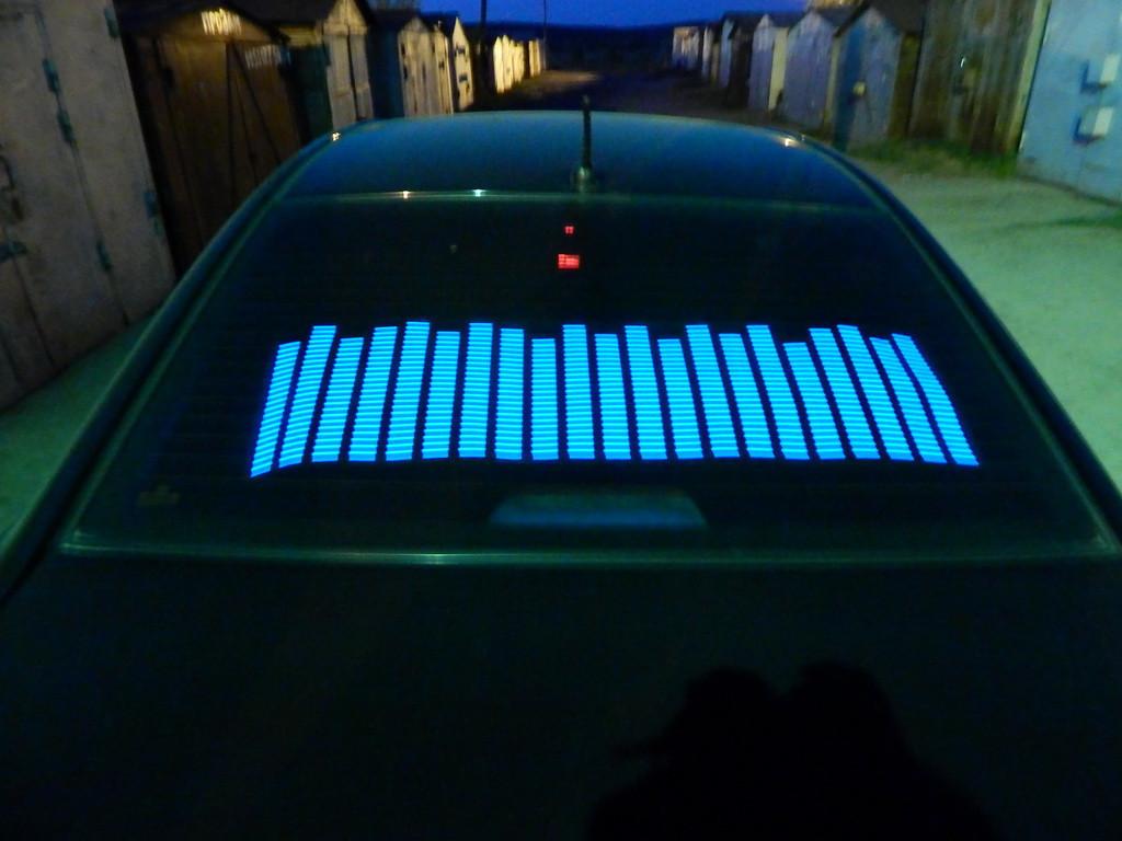 Эквалайзер на стекло авто Синий (114*30cм) яркий эквалайзер подарок