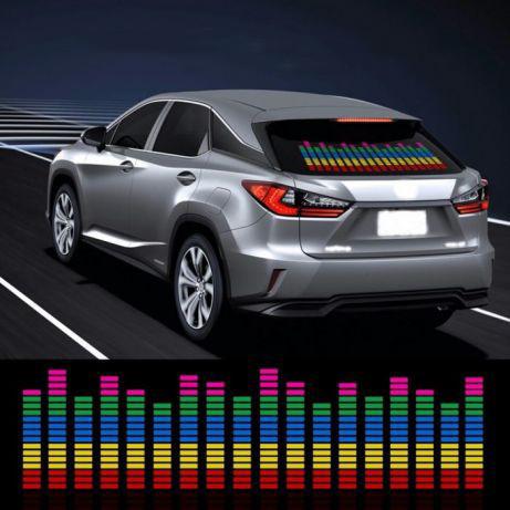 Эквалайзер на стекло авто Color (90*25cм) яркий эквалайзер подарок