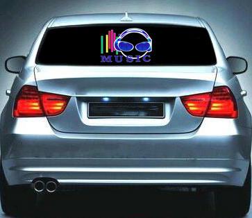 Эквалайзер на стекло авто №27 Music яркий эквалайзер подарок