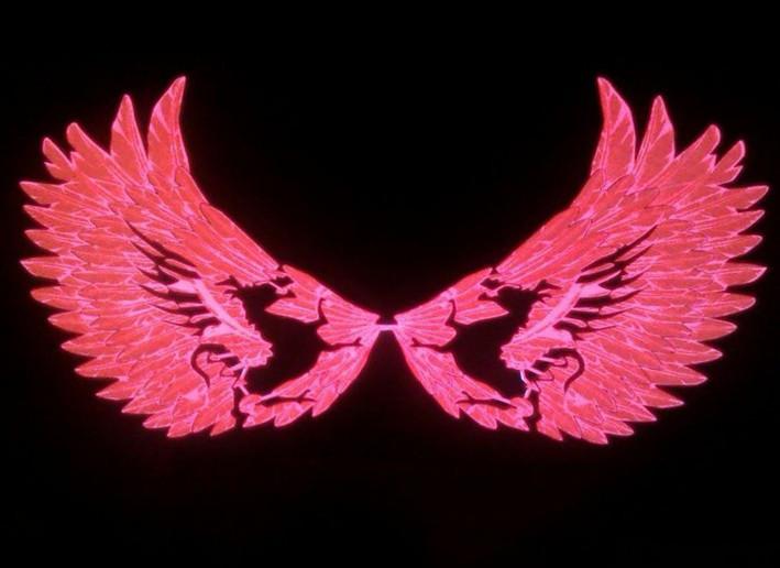 Эквалайзер на стекло авто №47 Крылья дракона/красные яркий эквалайзер подарок