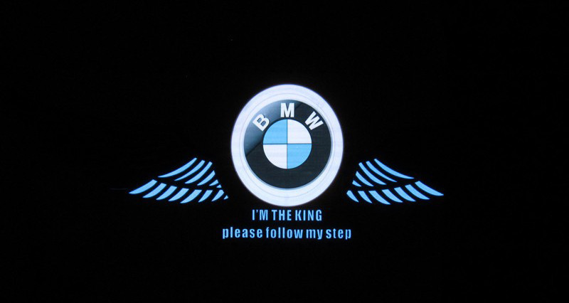 Эквалайзер на стекло авто Крылья BMW яркий эквалайзер подарок