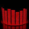 Эквалайзер на стекло авто Красный (114*30cм) яркий эквалайзер подарок , фото 2