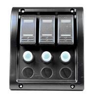 Панель на 3 переключателя 10013-BK, 130х110мм